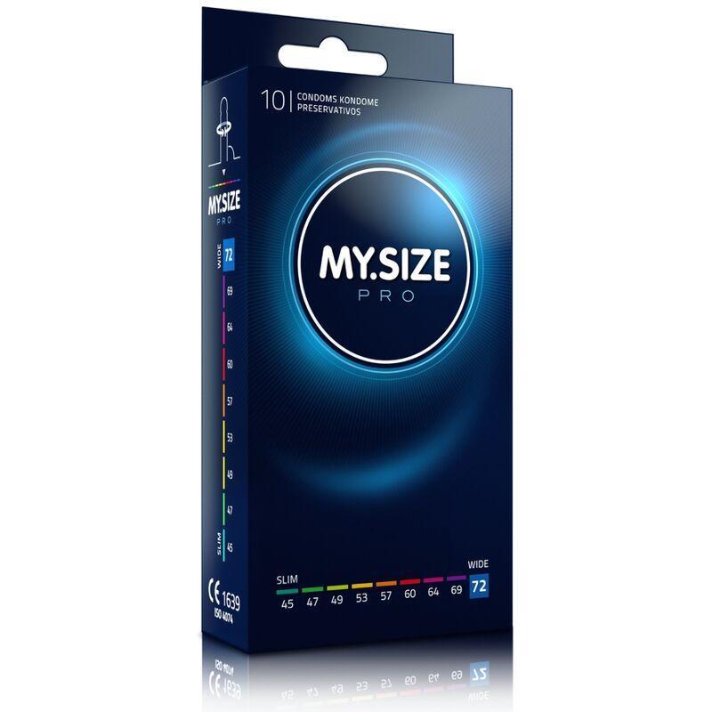 My size pro preservativos 72 mm 10 unidades - Imagen 1