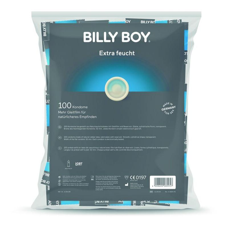 Billyboy bolsa preservativos extra lubricados 100 unidades - Imagen 1