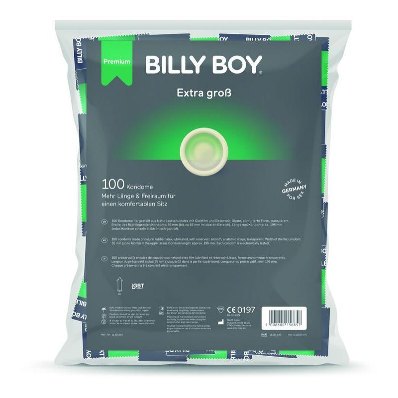 Billyboy bolsa preservativos extra largos 100 unidades - Imagen 1