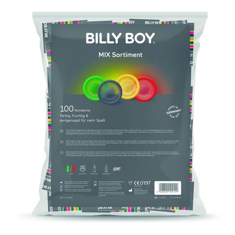 Billyboy mix bolsa preservativos variados 100 unidades - Imagen 1
