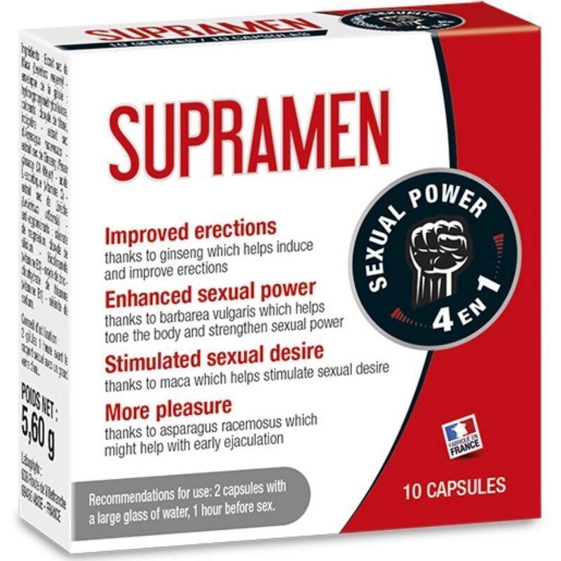 Supramen 10 capsulas 4 en 1 potencia sexual - Imagen 1