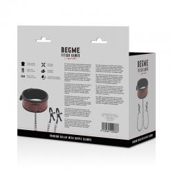 Begme red edition collar con cadenas y pinzas pezones - Imagen 7