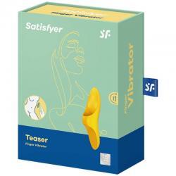 Satisfyer teaser finger vibrator - amarillo - Imagen 5