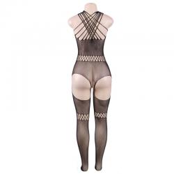 Queen lingerie bodystocking cuello de tirantas s-l - Imagen 3