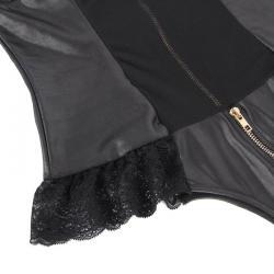 Queen lingerie teddy con cremallera s/m - Imagen 4