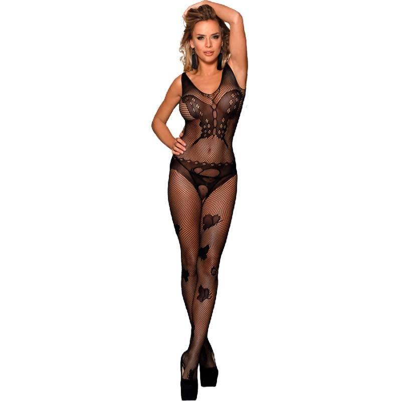 Queen lingerie bodystocking bordados mariposa s-l - Imagen 1